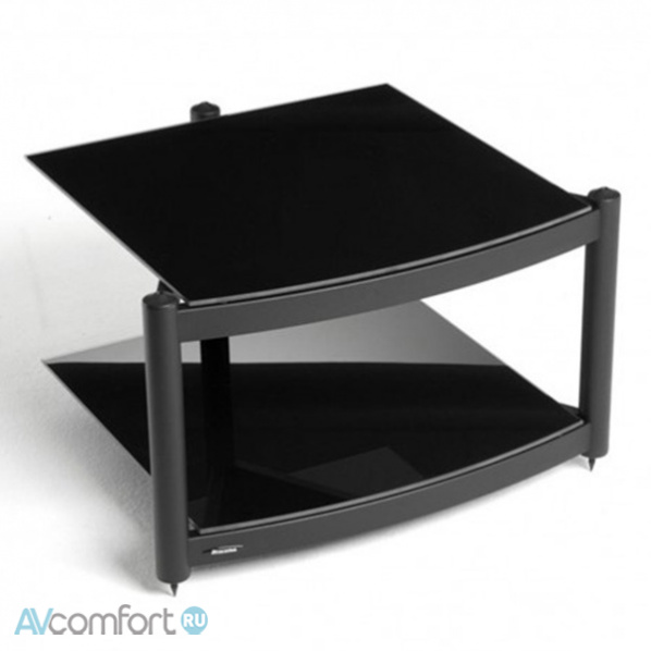 AVComfort, ATACAMA Equinox RS 2 Shelf Base Module HI-FI Satin Black/Piano Black Glass