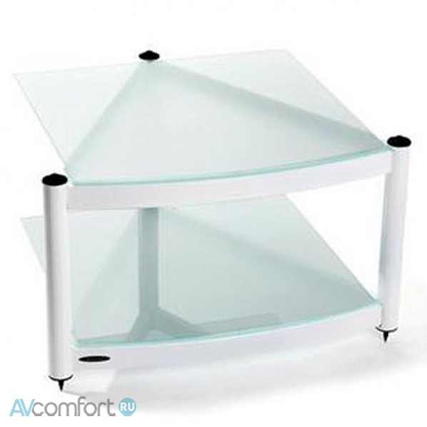 AVComfort, ATACAMA Equinox RS 2 Shelf Base Module HI-FI Satin Black/Arctic Frost Glass