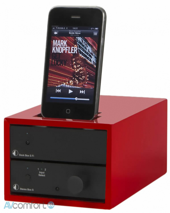 AVComfort, PRO-JECT Design Box Acryl 2iP Red