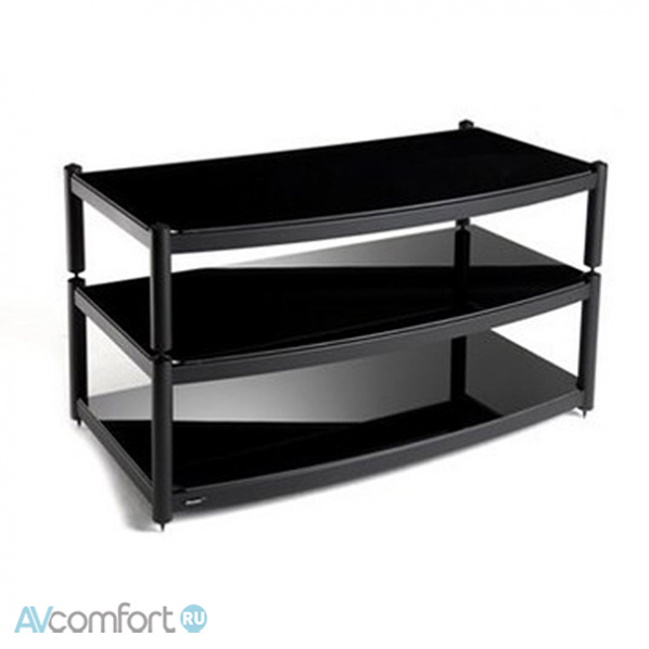 AVComfort, ATACAMA Equinox 2 Shelf Base Module AV Satin Black/Piano Black Glass